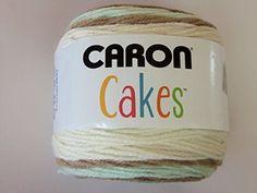 Caron Cakes Self Striping Yarn 383 yd 200 g (Chocolate Mint) Crochet For Kids, Easy Crochet, Crochet Baby, Free Crochet, Knit Crochet, Crochet Crafts, Yarn Crafts, Crochet Projects, Caron Cakes Patterns