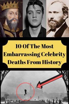 Whether ironic, shocking, or just plain gross, these embarrassing celebrity deaths throughout history show that not everyone gets to go out with dignity. weird 10 Of The Most Embarrassing Celebrity Deaths From History Interesting News, Interesting History, Interesting Stories, History Photos, History Facts, Funny Facts, Weird Facts, Funny Memes, Celebrity Deaths