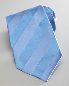 Self-Striped Tie, Blue by Brioni at Neiman Marcus.