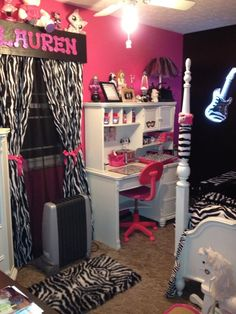 My Girls Room Is Already Zebra And They Have 2 Windows, Great Idea For Their