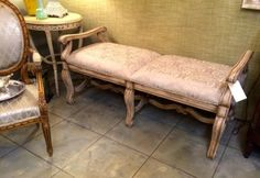 chairs for sale in Dallas, Texas French Country Furniture, Country French, French Bench, Vintage Bench, Chairs For Sale, Vanity Bench, Painted Furniture, Mall, Buy And Sell
