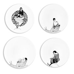 snail decorated plates