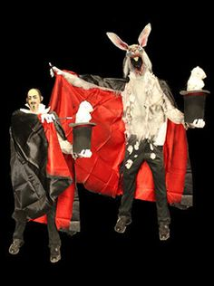 Magician and then AbracadabaRabbit! Cool animatronic from Harpers Hollow
