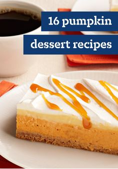 16 Pumpkin Dessert Recipes — Look past the pumpkin pie! Have you ever had a pumpkin cupcake with cream cheese frosting? The desserts here range from simple bread puddings to show-stopping holiday desserts.