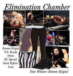 """""""Elimination Chamber: Roman Reigns V.S. Randy Orton"""" by basket-case47 ❤ liked on Polyvore featuring WWE, randyorton, RomanReigns and eliminationchamber"""