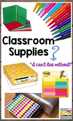 Classroom supplies to help teachers get organized and have tools for reading and writing!