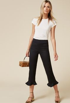 These trousers look like business as usual...until your eyes get to the surprise at the bottom.Reformation Mesa Pant, $178, available at Reformation. #refinery29 http://www.refinery29.com/business-casual-for-women#slide-11