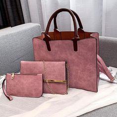 3 Set Designer Women Leather Crossbody Bags – KES Store Leather Crossbody Bag, Leather Handbags, Pu Leather, Vegan Leather, Crossbody Bags, Work Bags, Messenger Bag, Satchel, Purses