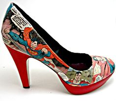 Custom Order Comic Book Shoes You pick the by Customcomix on Etsy, $80.00