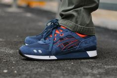 #Asics Gel Lyte III Blue/Orange