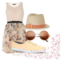 """Picnic Outfit Idea #2"" by smileskillshates ❤ liked on Polyvore featuring Keds, Maison Michel, outfit and picnic"