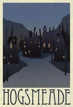Hogsmeade Retro Travel Poster at AllPosters.com