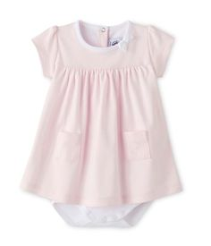 Robe body bébé fille unie