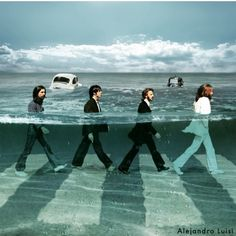 Wavy Road - animated by alejandroluisi Les Beatles, Beatles Art, Beatles Photos, John Lennon Beatles, Abbey Road, Rock N Roll, Pop Rock, Great Bands, Cool Bands