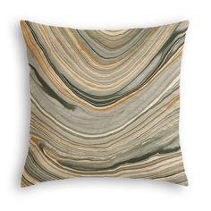 Gold & Black Marble Throw Pillow | Loom Decor