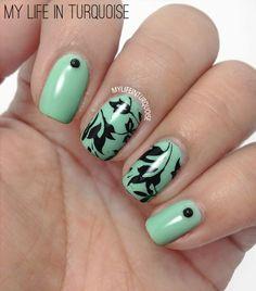 My Life in Turquoise #nail #nails #nailart