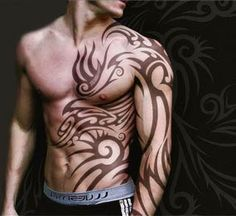 I know everyone hates in the tribal tat's, but this tat looks awesome to me.