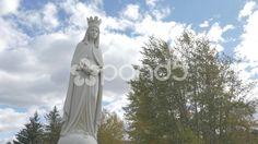 4K Statue Lady Of Peace Christian Monument Trees Clouds Sky Dunvegan  Hand Held - Stock Footage | by RyanJonesFilms #lumix #gh4 #4k #panasonic #ladyofpeace #statue #peace #video #dunvegan #monument