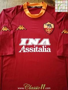 Official Kappa AS Roma home football shirt from the 2000/2001 season.