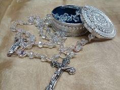 DIY Rosario de cristal para boda/ Wedding rosary (+lista de reproducción)