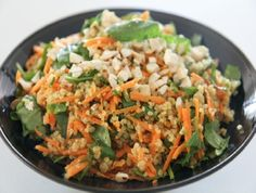 Low FODMAP Recipe - Carrot, Spinach and Quinoa: http://www.ibssano.com/low_fodmap_carrot_spinach_quinoa.html