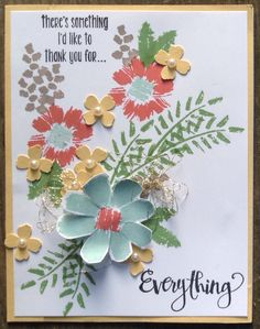 All About Everything. Design by Patricia Allison, images Stampin Up. Paper Pumpkin, April 2016.