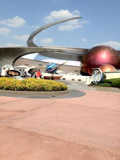 Epcot Mission Space. Harrison went on green first then went on orange and loved it!
