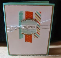 Stamp & Scrap with Frenchie: Quick Wahi Tape Card