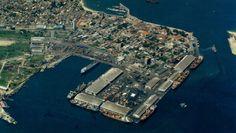 vista aerea de los muelles de Puerto Cabello