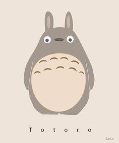 "My daughter loves Totoro. One of her favorite movie is ""My neighbor Totoro"". So I made her ham and cheese shaped into Totoro. Hayao Miyazaki, Totoro Tumblr, Cute Cartoon Wallpapers, Animes Wallpapers, Personajes Studio Ghibli, Stickers Kawaii, Studio Ghibli Art, Ghibli Movies, My Neighbor Totoro"