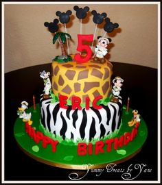 Mickey Safari Cake! By Yane on CakeCentral.com