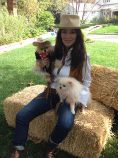 Lisa V and Giggy...posing as Midnight Cowboy...courtesy of Villa Blanca...https://www.facebook.com/VillaBlancaBH