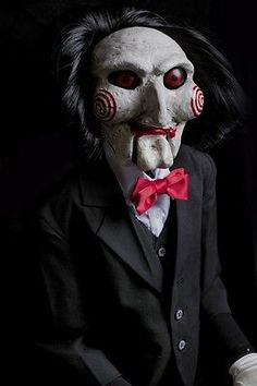 This puppet is exactly like having the actual Saw Puppet, having been hand assembled and hand painted by professional Hollywood FX prop specialists. Description from ebay.co.uk. I searched for this on bing.com/images