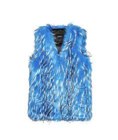 We love this faux fur vest. Gorgeous color!