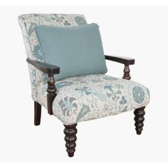 """40"""" Floral Upholstered Accent Chair"""