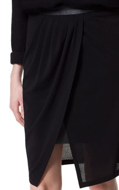 SKIRT WITH FAUX LEATHER LINING - Skirts - Woman - ZARA Canada