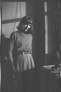 Sylvia Plath photographed by Walter Evans c. 1959