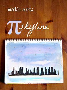 Celebrate pi day with a math art project: create a pi city skyline!