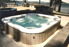 Hot Tub, wish all my husband would buy me one of these.