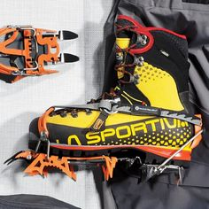 The Best Ice Climbing Gear of 2015 Mountain Gear, Mountain Equipment, Harley Boots, Ice Climbing, Snow Suit, Mountaineering, Mens Clothing Styles, Golf Bags, Outdoor Gear