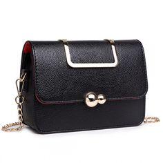 3e9d05db30 S1762 BK - Miss Lulu - Sac bandoulière en cuir style petit noir
