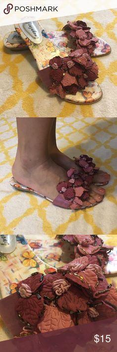 Flowery slip on Sparkling flower slip on . Shoes Flats & Loafers