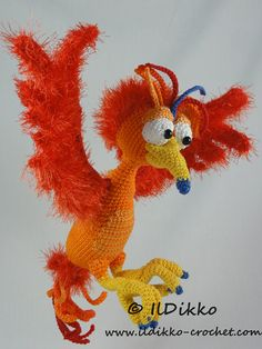 Amigurumi Crochet Pattern - Felix the Phoenix !!!This listing is for a crochet pattern and not a finished item!!! Felix the Phoenix: More photos available on Facebook: https://www.facebook.com/IlDikko Or check out IlDikko website: http://ildikko-crochet.com The pattern is very detailed