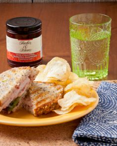 Recipes - Turkey or Ham & Cheese Panini with The Original Roasted Raspberry Chipotle Jam