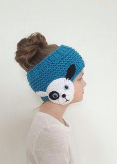 Winter Accessories Ear Warmer Puppy Headband Knit - Everything About Knitting Crochet Kids Hats, Crochet Crafts, Crochet Baby, Crochet Projects, Appliques Au Crochet, Crochet Motifs, Crochet Patterns, Handmade Headbands, Diy Headband