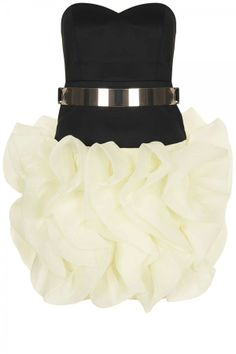 Topshop // Ruffle Skirt Party Dress By Rare.
