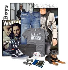 """Boys"" by flaviaottoboni on Polyvore featuring Philipp Plein, Vanity Fair, Scotch & Soda, Abercrombie & Fitch, HUGO, Polo Ralph Lauren, Vans, Ray-Ban, Made In Mayhem e men's fashion"