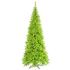 Most ornaments look good on a lime green Christmas tree. I like just simple…