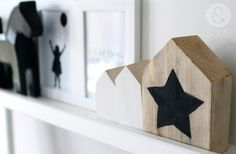 Little house with black star by ensuus on Etsy, €12.95