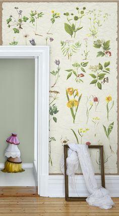Een prachtige plantenwereld op de muren laten elke kamer tot leven komen